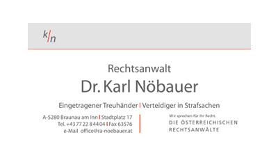 Rechtsanwalt Dr. Karl Nöbauer